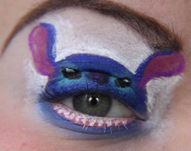how to make fake stitches with makeup