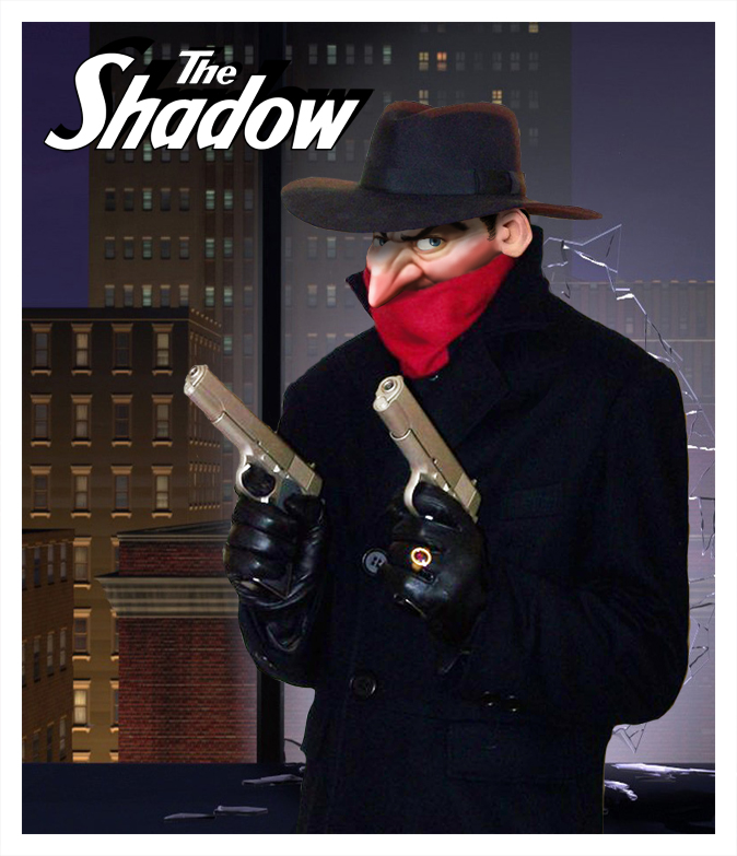pixar style pulp art flash gordon the shadow dick