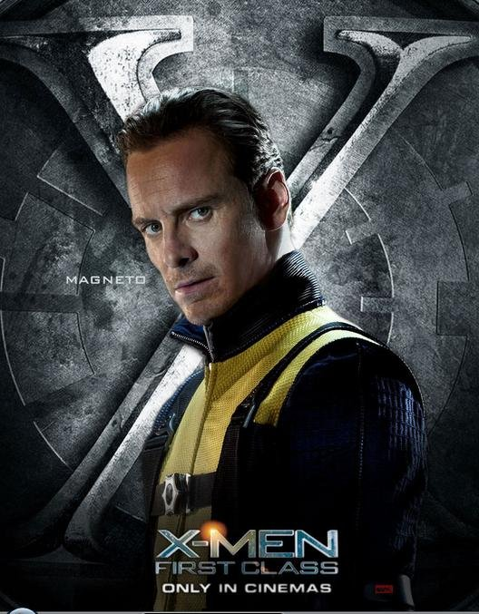 X-MEN: FIRST CLASS Character Posters for Magneto, Mystique ... X Men First Class Magneto And Mystique