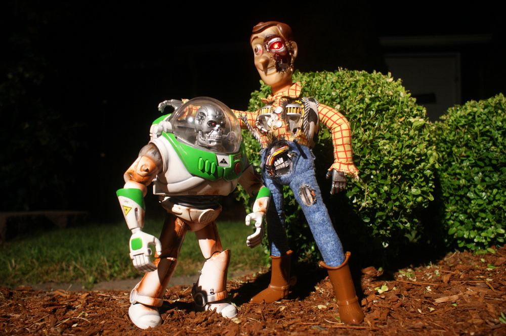 This is fantastic! These custom made Toy Story Terminator toys were ...