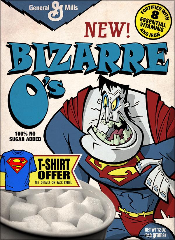 Fun Superman Cereal Box Art Geektyrant