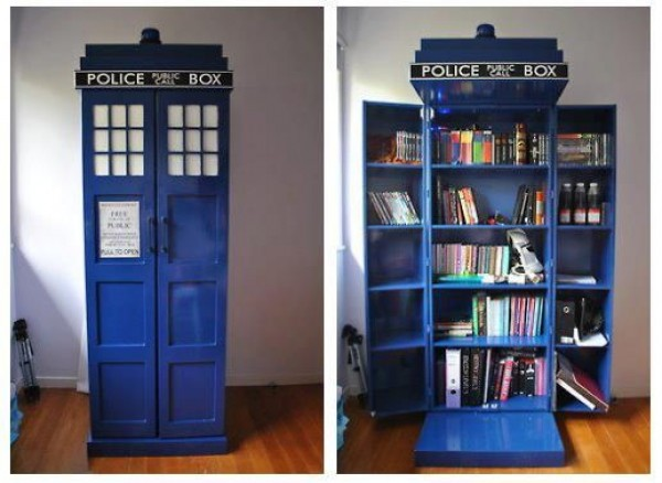 What Doctor Who Fan Wouldnt Want An Awesome TARDIS Bookshelf Of Course I Would Pack It With Just Books Id Stick My Toys And Blu Ray Collection In As