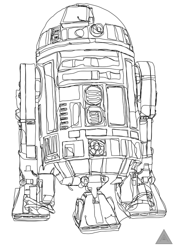 Famous Continuous Line Artists : Artist creates awesome star wars drawings with one