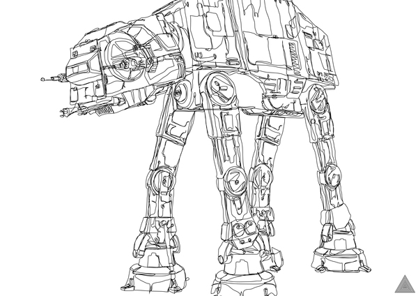 Single Line Character Art : Artist creates awesome star wars drawings with one