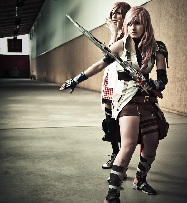 France - Lightning by: Kn8e | France - Serah by: Cyberlight