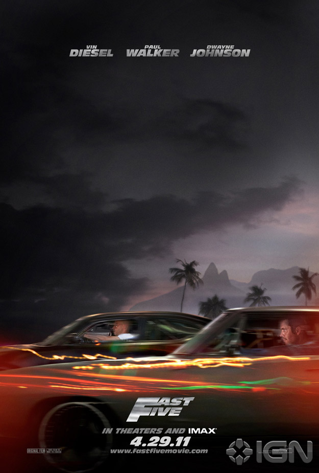 Movie Poster Debut for FAST FIVE — GeekTyrant