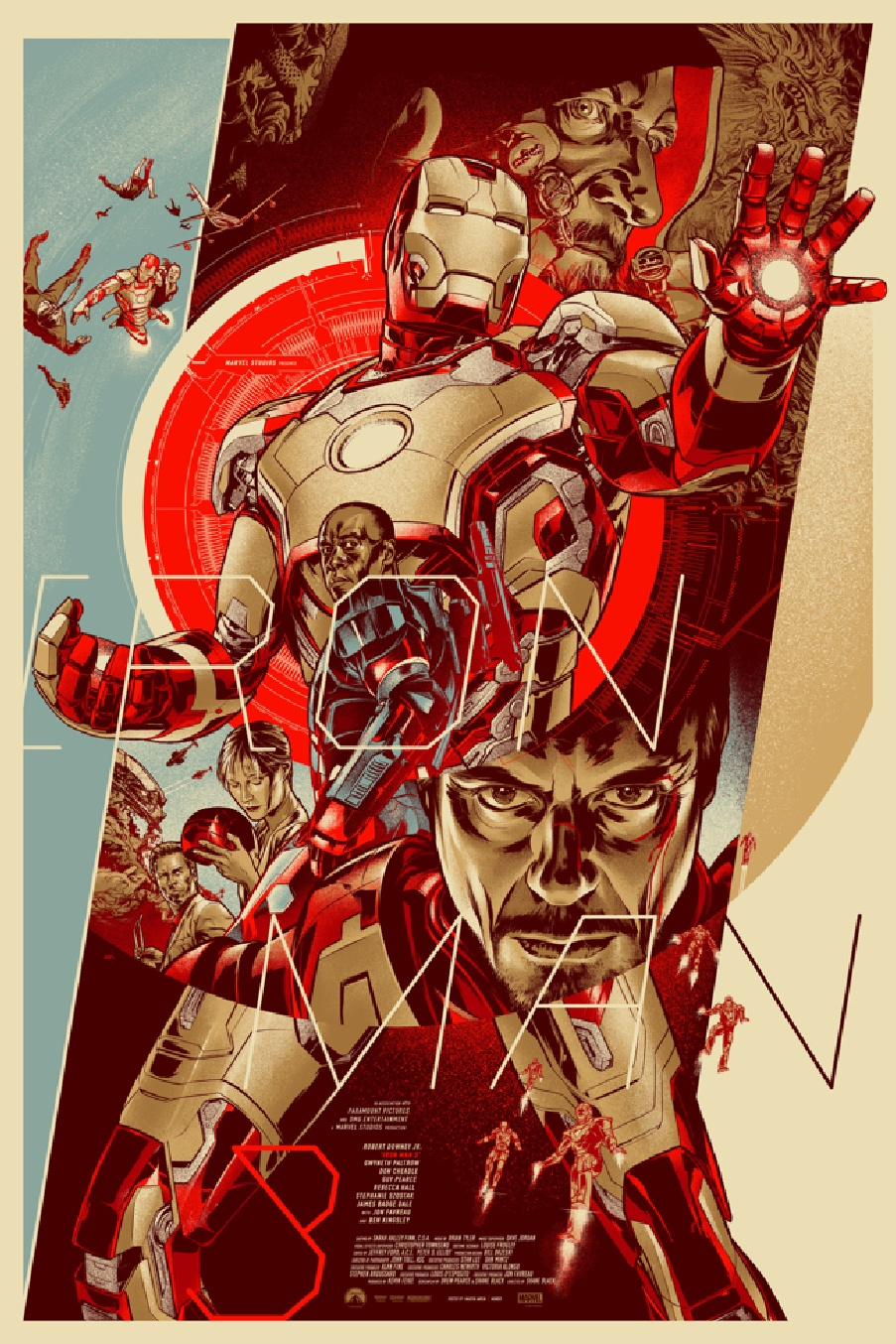 Cool iron man 3 wrap poster and 2 mondo posters geektyrant for Cool paintings for sale