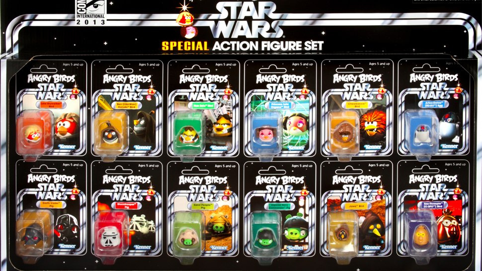 Angry birds star wars action figure set comic con exclusive