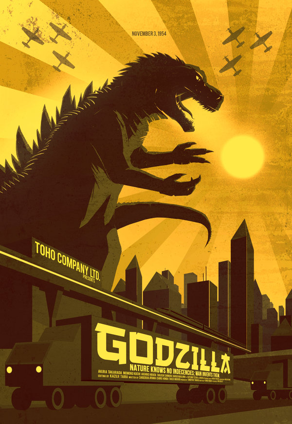 Poster Designs For The Fifth Element Godzilla Shaun Of