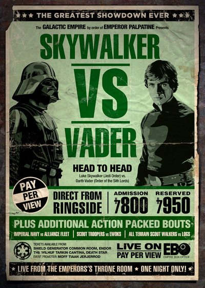 Vintage Star Wars Boxing Rivalry Posters Geektyrant