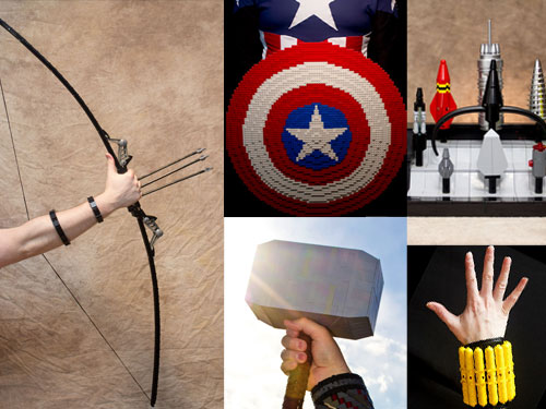 how to make paper avengers weapons