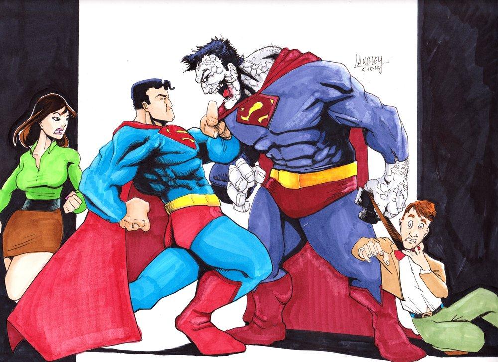 Superman Takes On Biza... Easy Superhero Drawing