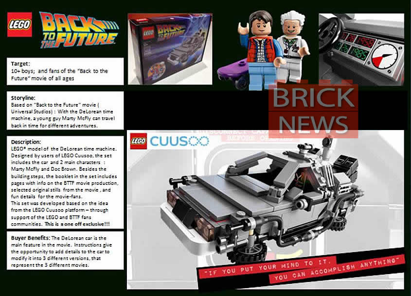 First Look At Lego S Back To The Future Play Set Geektyrant
