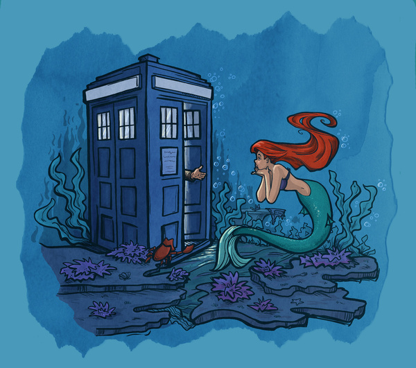 DOCTOR WHO And Disney Princess Crossover Art GeekTyrant