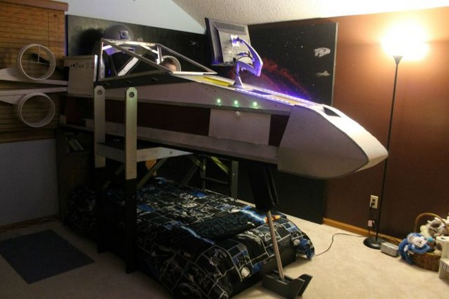 Star Wars Inspired X Wing Bed Geektyrant