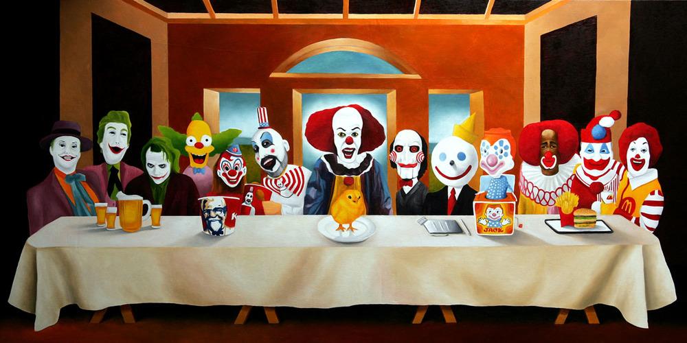 Terrifying Clown Last Supper Art — GeekTyrant