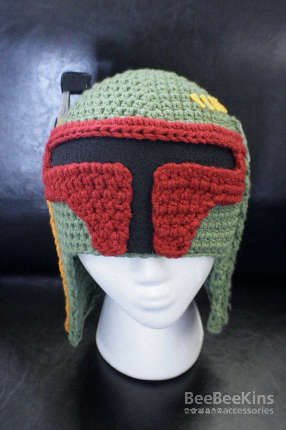 Awesome Star Wars Boba Fett Knitted Hat Geektyrant