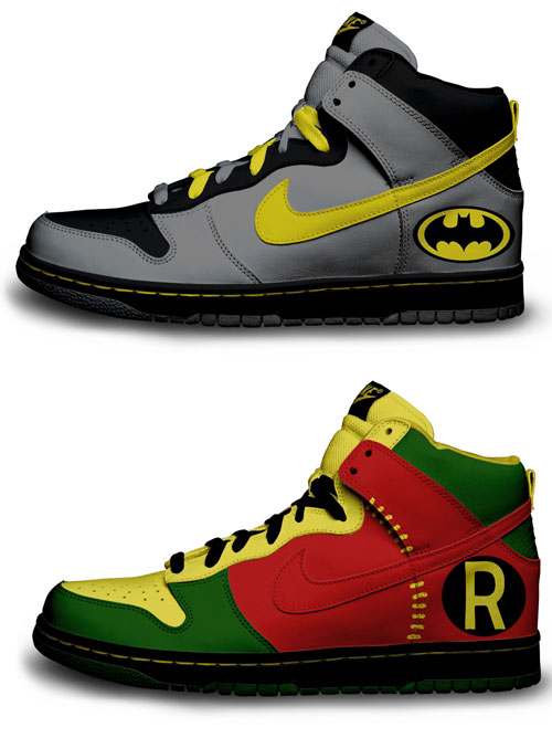 Nike Batman And Robin Shoes