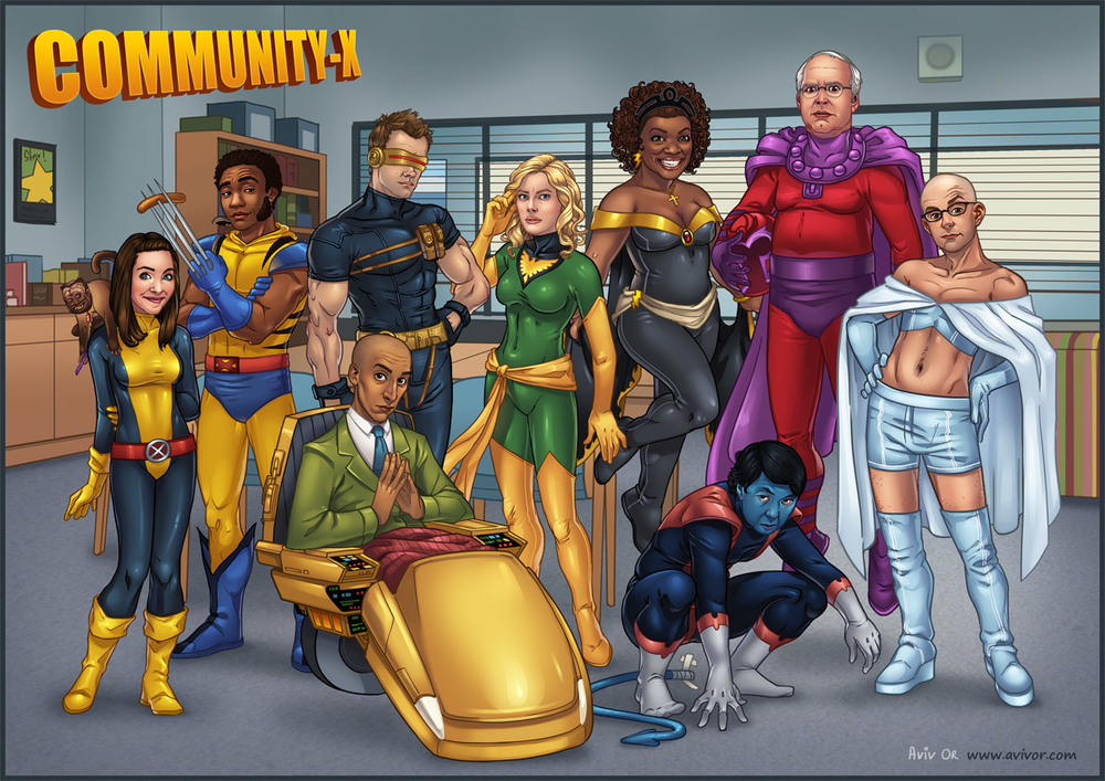 community cast reimagined as x men characters geektyrant