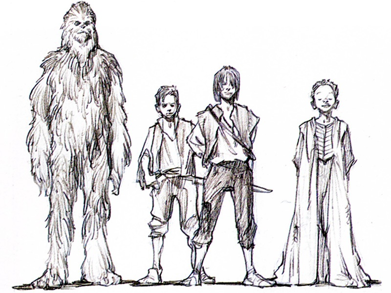 Yoda Character Design : Young han solo concept art from lucasfilm — geektyrant