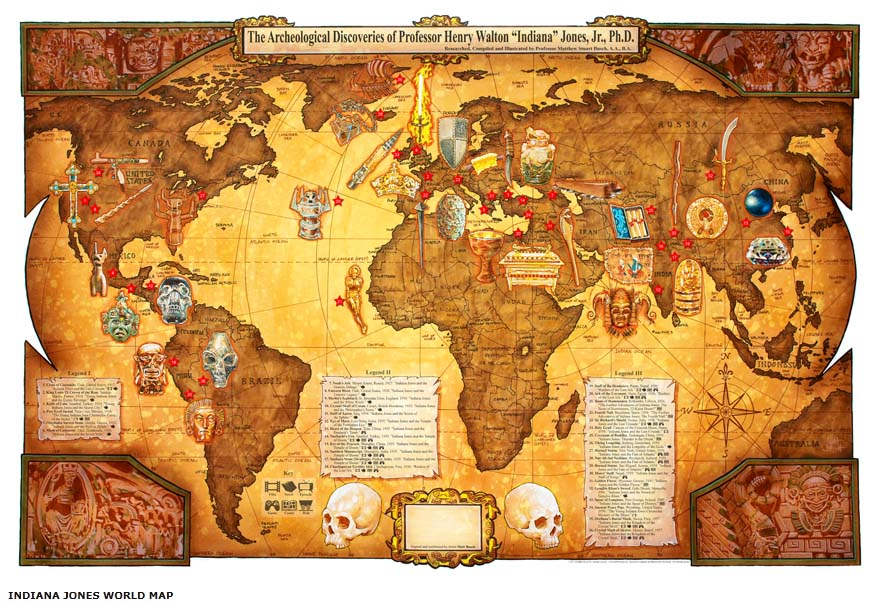 Indiana jones world map creation video geektyrant indiana jones world map creation video gumiabroncs Image collections