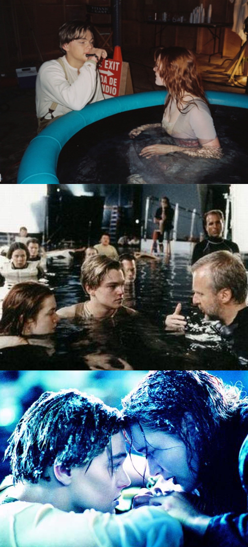 Set photos that will change how you see movies geektyrant - Was the titanic filmed in a swimming pool ...