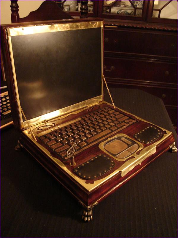 Awesome Steampunk Laptop Geektyrant