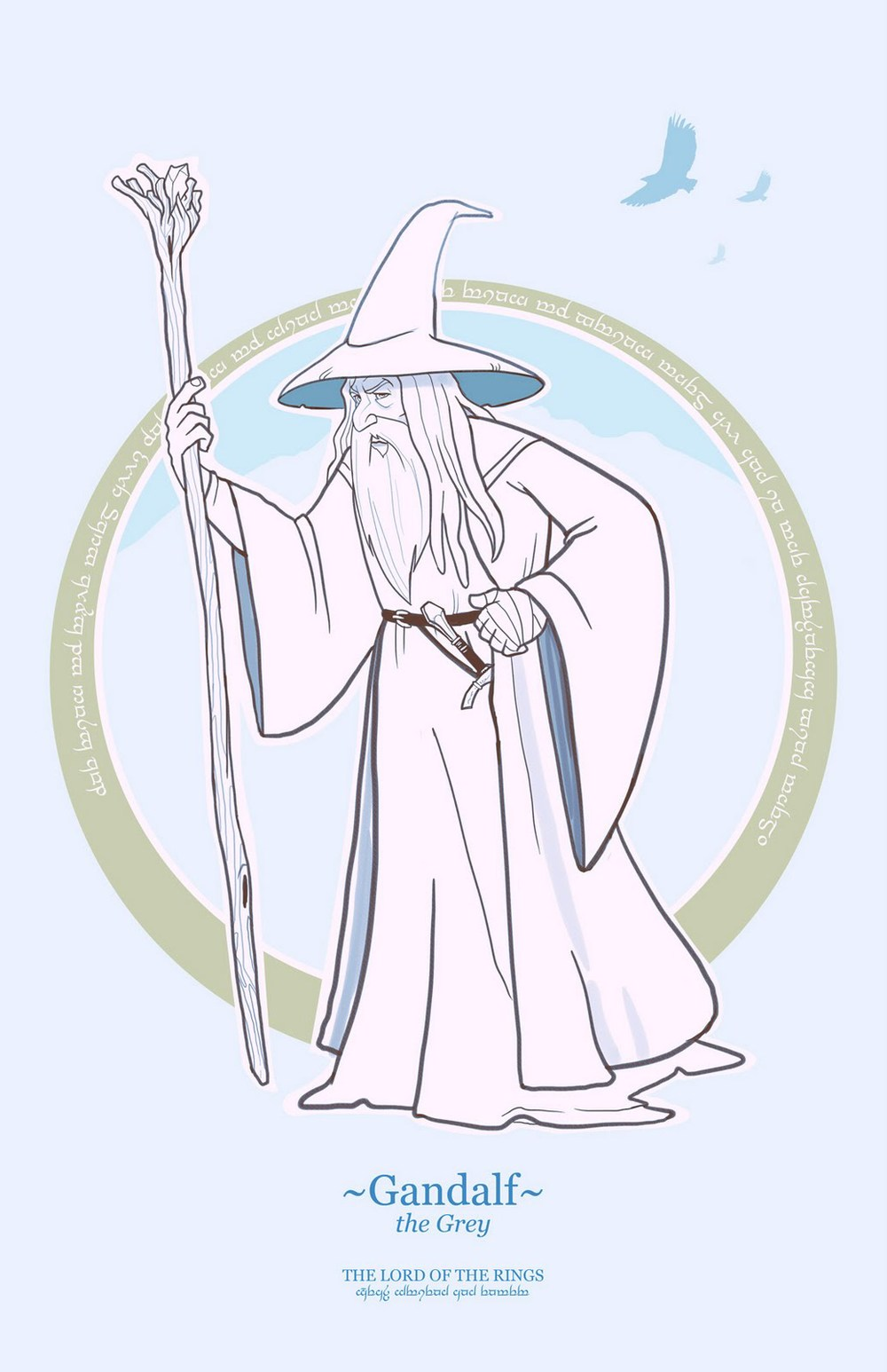 cartoon style lord of the rings character designs geektyrant