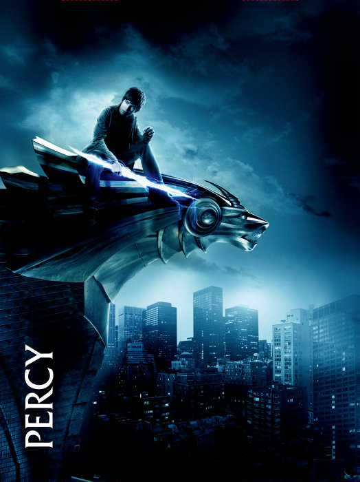 3 Dark Blue Character Posters For PERCY JACKSON