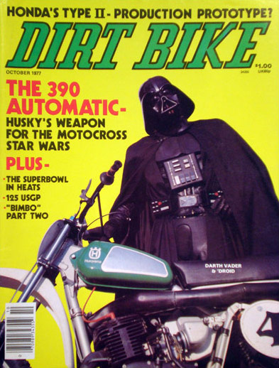Why is Darth Vader on the Cover of Dirt Bike Magazine in ... Darth Vader Tattoo