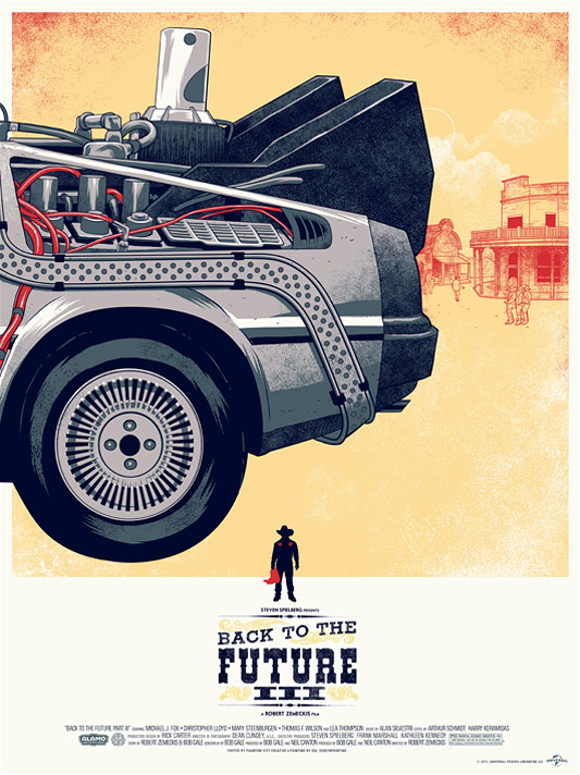 Awesome Mondo Tees Back To The Future Trilogy Poster Art