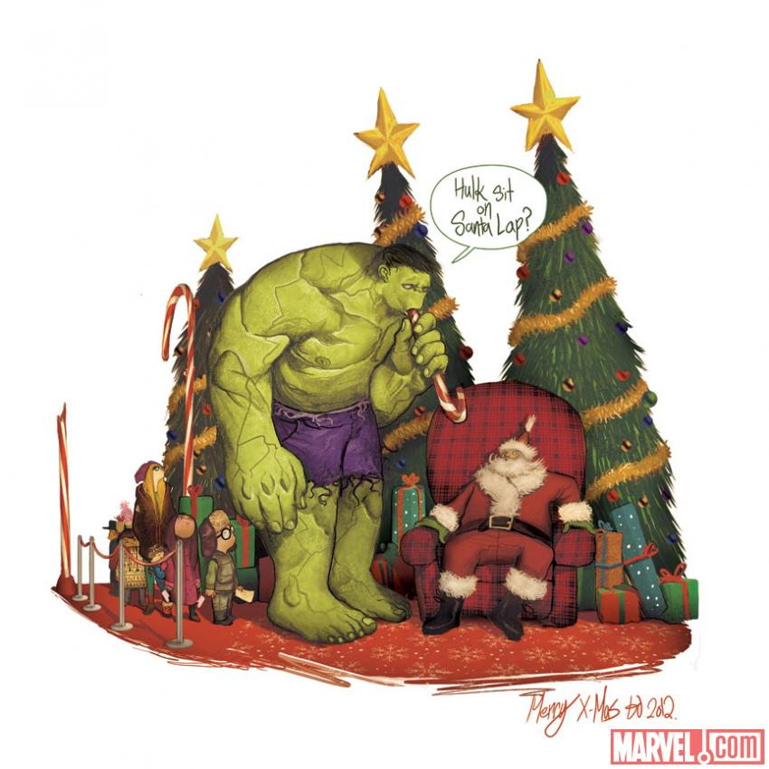 Marvel\'s Awesome Collection of 2012 Holiday Card Art! — GeekTyrant