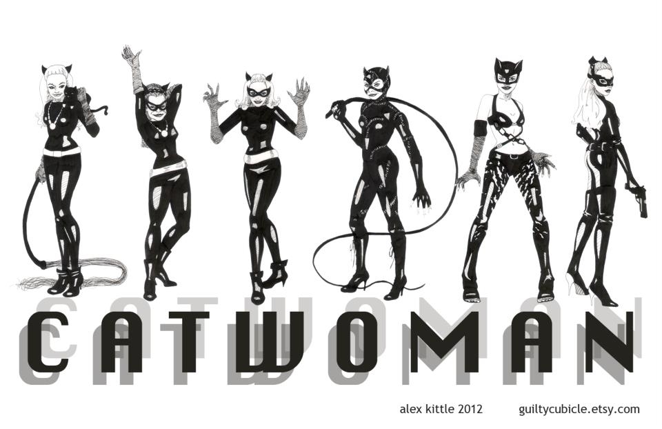 Catwoman Is On The Prowl Thanks To Alex Kittle Of Guiltycubicle Art Here Fantastic Feline In Various Poses You Can Check Out More Her Geeky Work