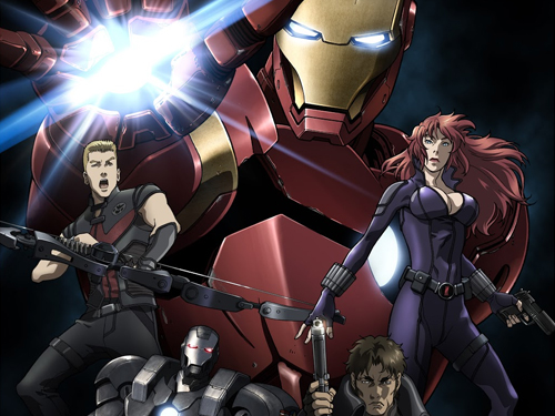 awesome trailer for iron man rise of technovore anime