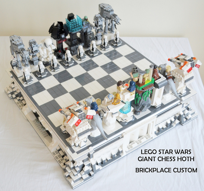 giant star wars hoth lego chess set geektyrant. Black Bedroom Furniture Sets. Home Design Ideas