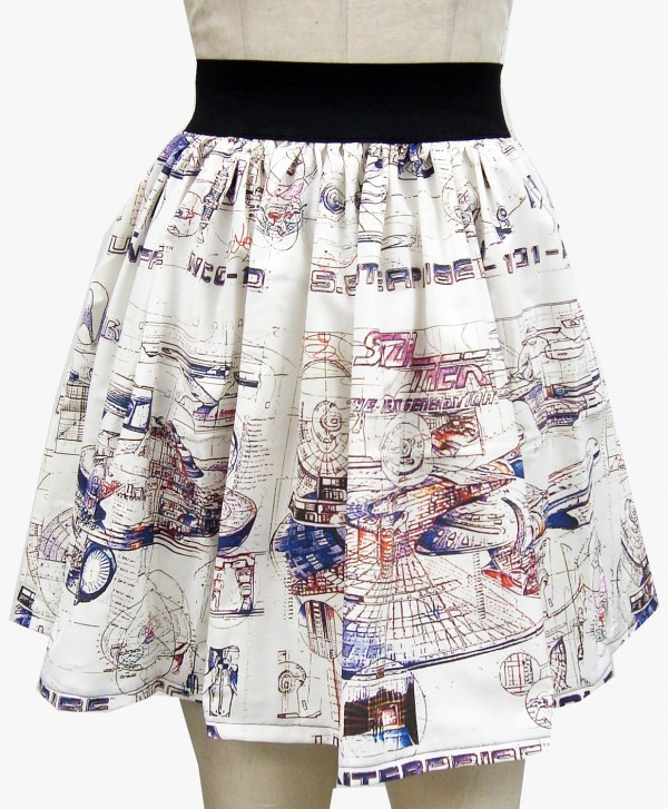 Star trek enterprise blueprint skirt geektyrant check out this awesome unique geek skirt featuring the blueprints of the uss enterprise from star trek itd be awesome to find this fabric and make a malvernweather Image collections