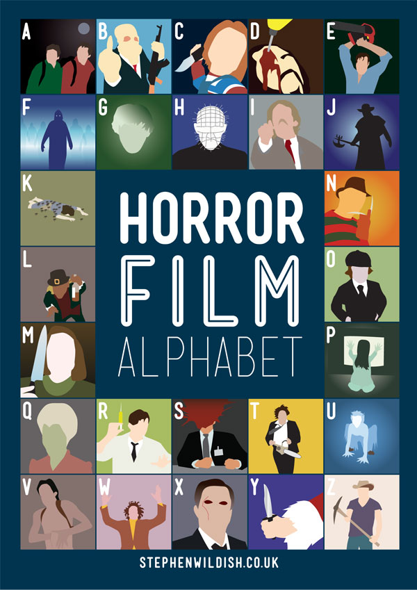 movies that start with the letter e horror alphabet poster geektyrant 4353
