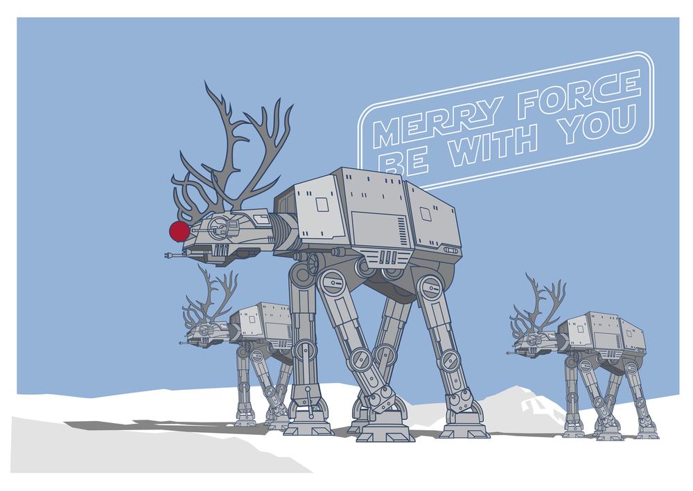 Coolest star wars christmas art ever geektyrant for Cool christmas art
