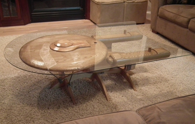 Below Are Some Other Angles Of This Sweet Table That Would Look Great In  The Home Of Any Star Trek Fan Thanks To Geekologie: