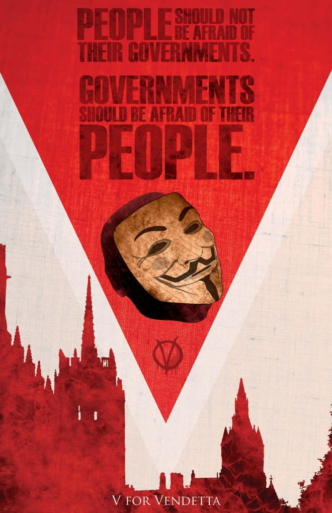 V For Vendetta Movie Poster Sci-Fi Fantasy Movie P...