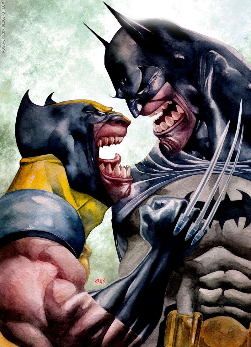 Geek Art Batman And Wolverine Growling It Out Geektyrant