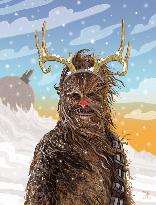 then one foggy christmas eve solo came to say chewbacca with your nose so bright wont you guide my millennium falcon tonight then how the wampas - What Do You Get A Wookie For Christmas