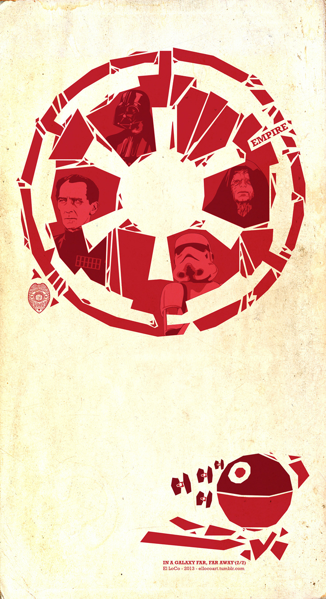 Stylized Star Wars Art For The Rebel Alliance And Galactic Empire