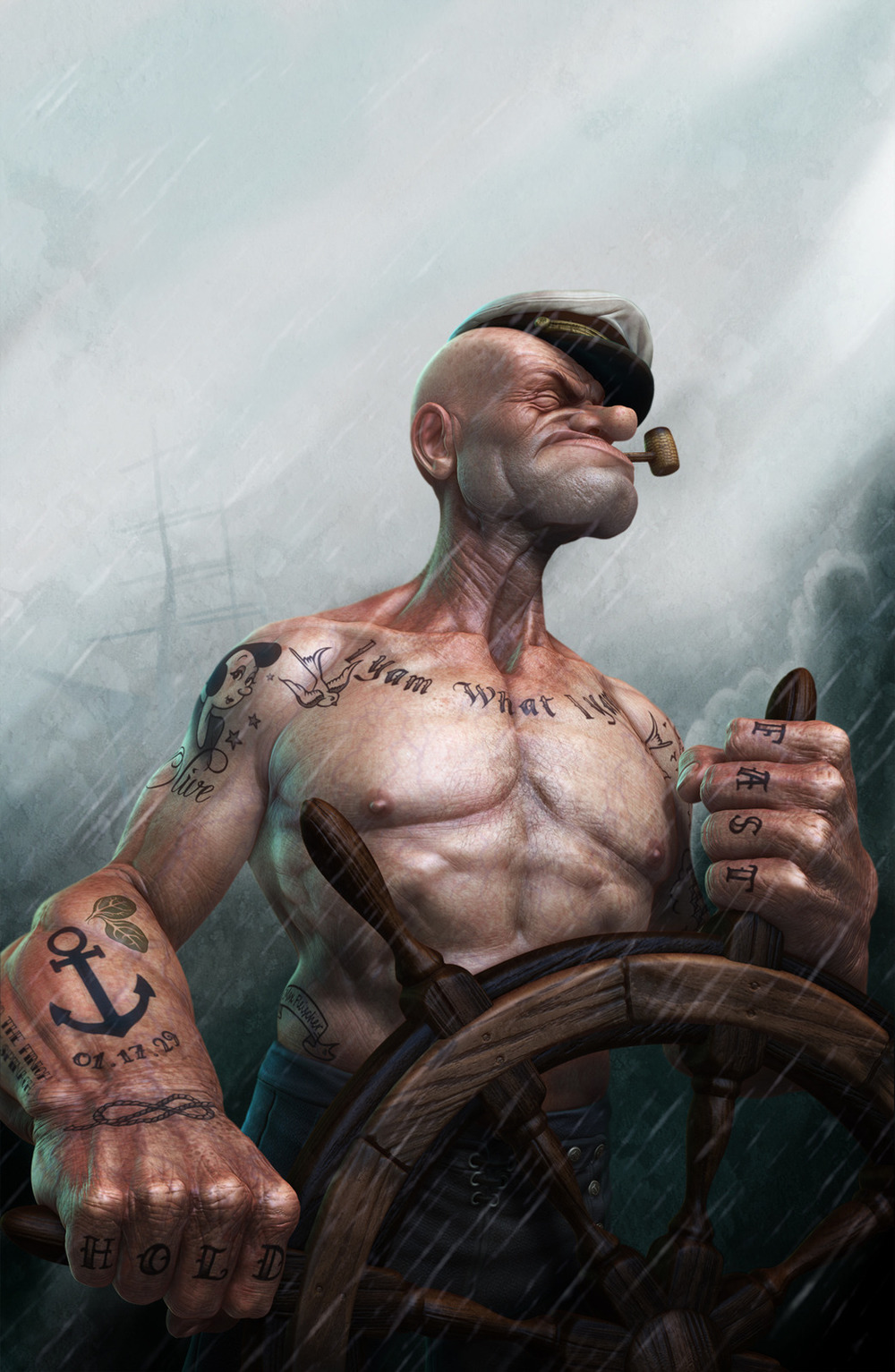 the ultimate badass popeye art geektyrant