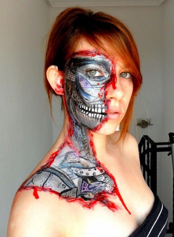 Terminator Half Face Drawing