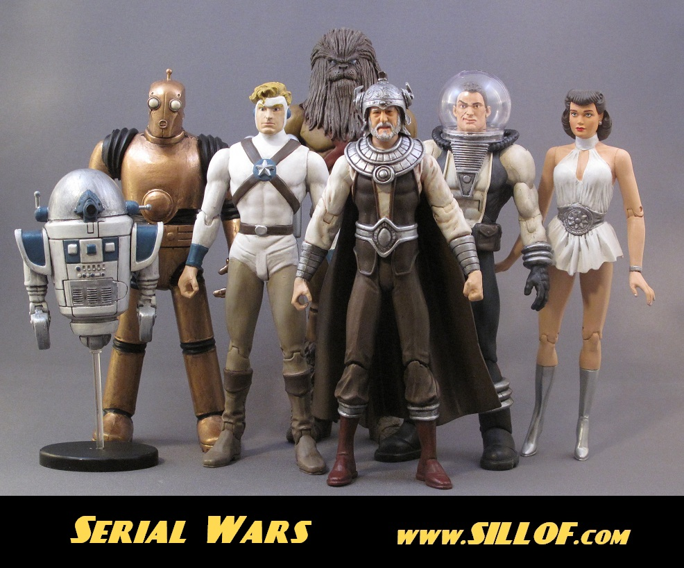 Toys Star Wars : S retro serial star wars custom made action figures