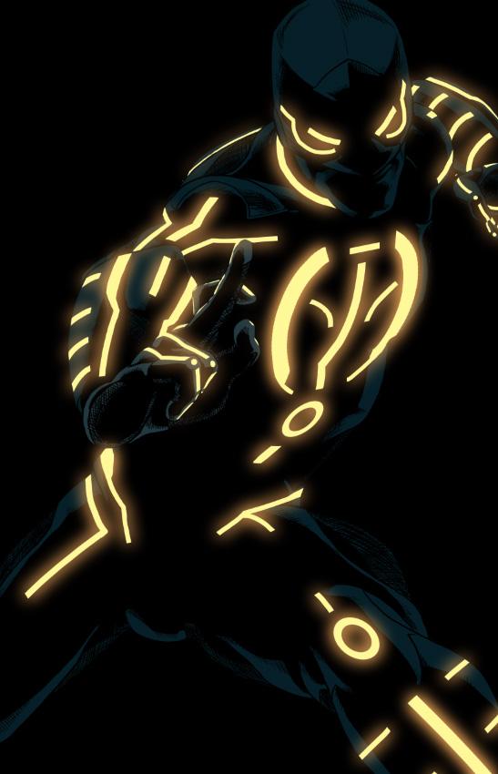 Black Spiderman Comic 23 TRON Style Marvel C...