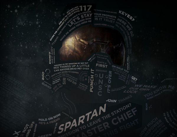 Halo 4 Quotes Quotesgram: HALO 4: Master Chief Recreated Using Typography