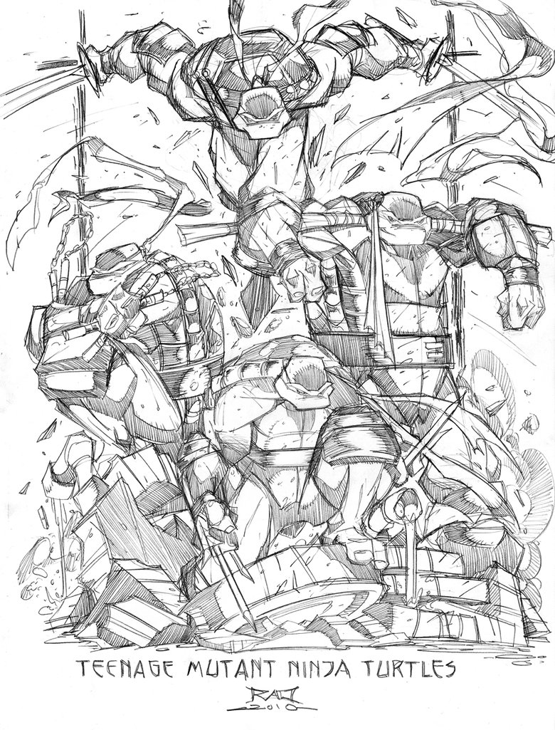 Line Art Ninja Turtles : Incredibly rad batman ninja turtle wolverine art