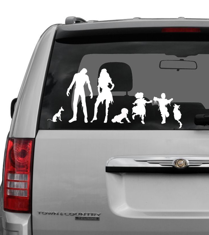Zombie Family Car Decals GeekTyrant - Star wars family car decals